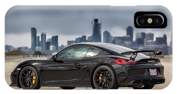 #porsche #cayman #gt4 IPhone Case