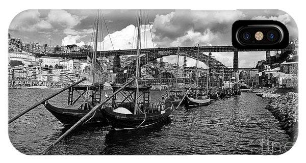 Port Wine Boats In Porto City IPhone Case