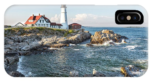 Scenic New England iPhone Case - Portland Head Lighthouse by Jane Rix