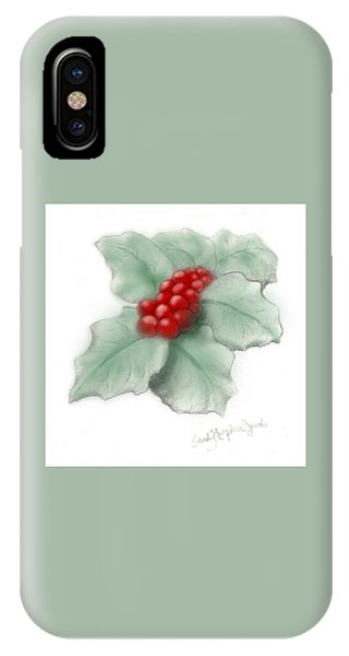 Portland Holly IPhone Case