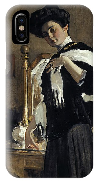 Russian Impressionism iPhone Case - Portrait Of Henriette Girshman by Valentin Serov