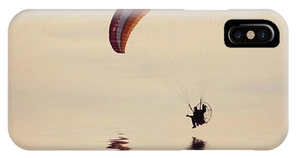 Amazing iPhone Case - Powered Paraglider by John Edwards