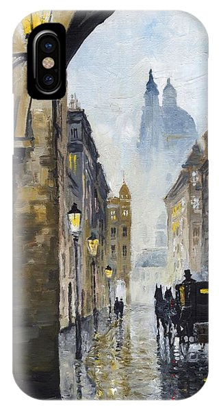 Prague Old Street 01 IPhone Case