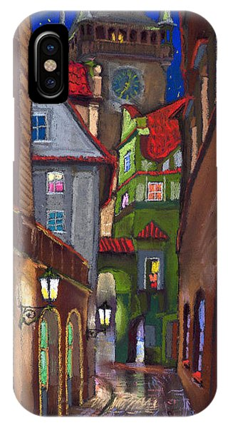 Old Houses iPhone Case - Prague Old Street  by Yuriy Shevchuk