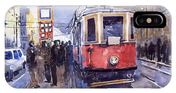 Prague Old Tram 03 IPhone Case