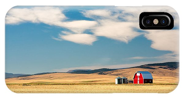 Barn iPhone Case - Prairie Red by Todd Klassy