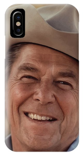 History iPhone Case - President Ronald Reagan by War Is Hell Store