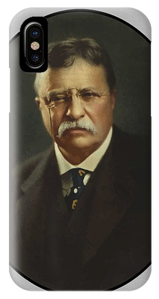 History iPhone Case - President Theodore Roosevelt  by War Is Hell Store