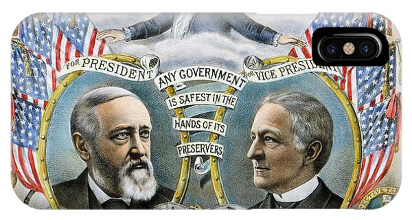 Allison iPhone Case - Presidential Campaign, 1888 by Granger