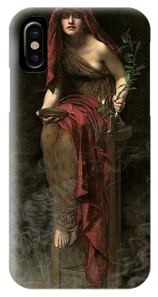 Potion iPhone Case - Priestess Of Delphi  by John Collier