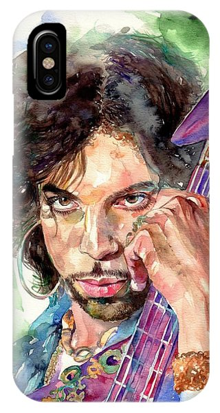 Modern iPhone Case - Prince Rogers Nelson Portrait by Suzann Sines