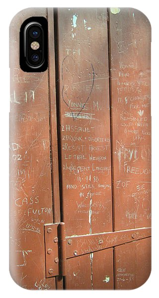 Prison Graffiti IPhone Case