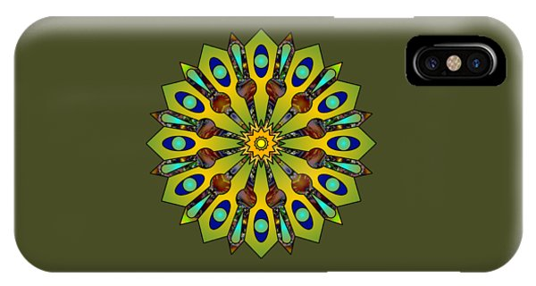 Psychedelic Mandala 004 A IPhone Case