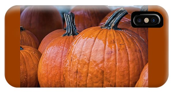 Pumpkins In Rain IPhone Case