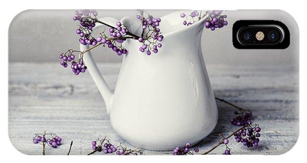 Violet iPhone Case - Purple Berries by Nailia Schwarz