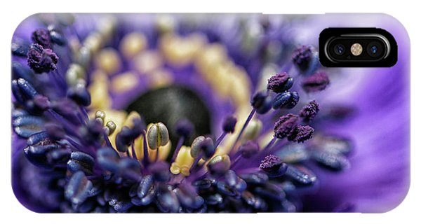 Purple Heart Of A Flower IPhone Case