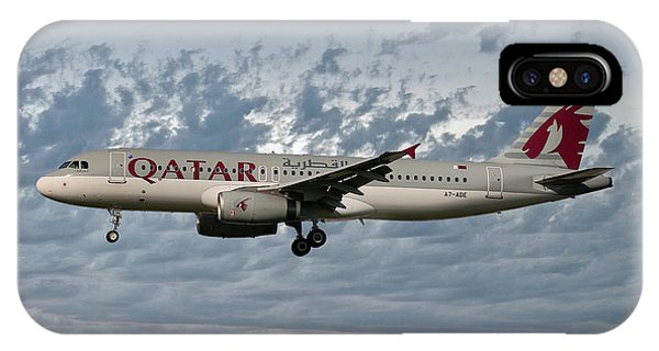 Jet iPhone X / XS Case - Qatar Airways Airbus A320-232 by Smart Aviation
