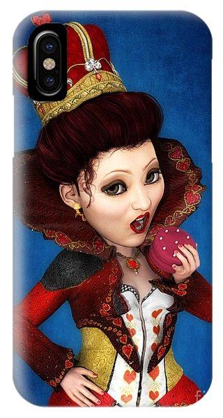 Queen Of Hearts Portrait IPhone Case