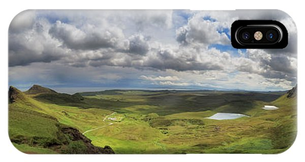 Quiraing And Trotternish - Panorama IPhone Case