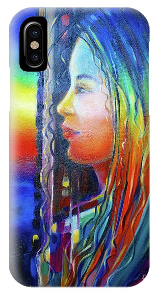 Rainbow Girl 241008 IPhone Case