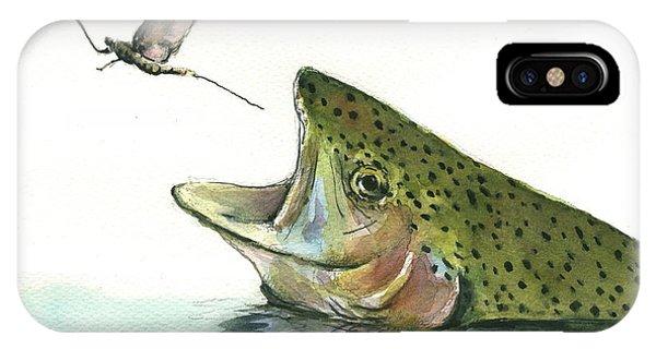 Rainbow iPhone Case - Rainbow Trout by Juan Bosco