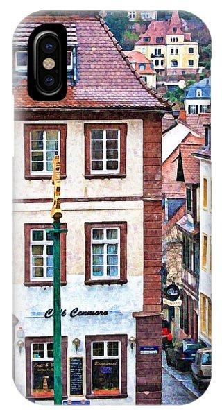 Rainy Day In Heidelberg IPhone Case