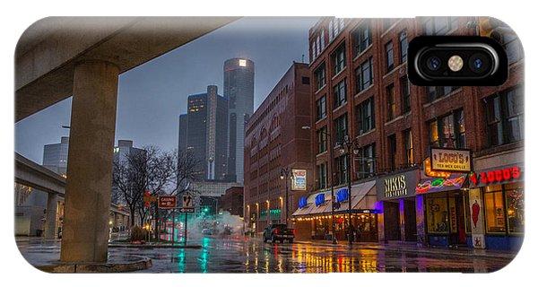 Rainy Night In Detroit  IPhone Case