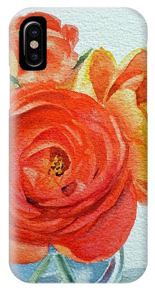 Rose iPhone X Case - Ranunculus by Irina Sztukowski