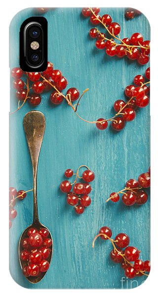 Blue Berry iPhone Case - Red Currant by Jelena Jovanovic