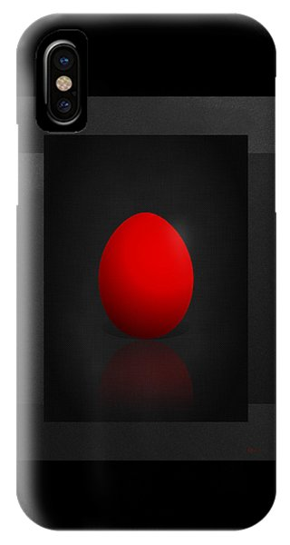 Pop Art iPhone Case - Red Egg On Black Canvas  by Serge Averbukh