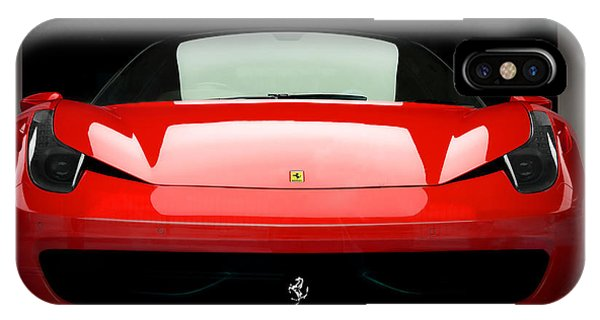 Red Ferrari 458 IPhone Case