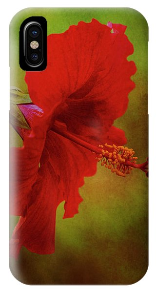 Red Hibiscus Art IPhone Case