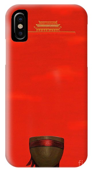 Red Impression IPhone Case
