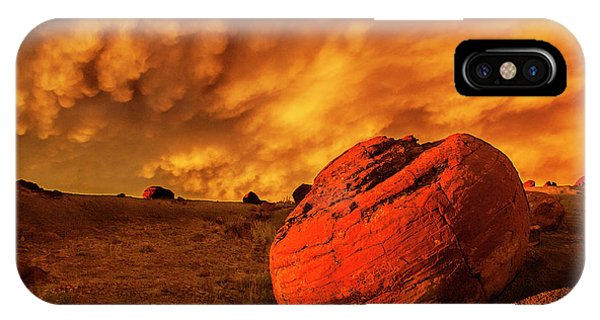 Red Rock Coulee Sunset 3 IPhone Case