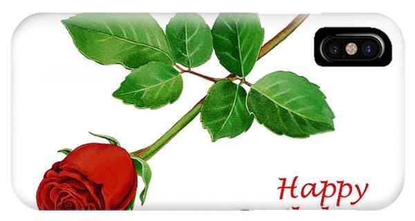 Red Rose Happy Birthday  IPhone Case