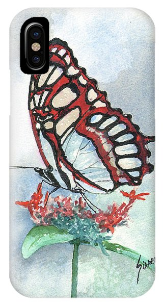 IPhone Case featuring the painting Red by Sam Sidders