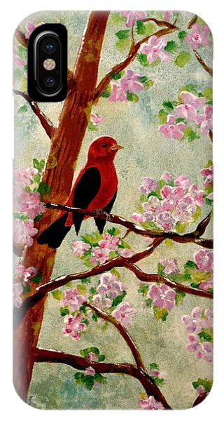 IPhone Case featuring the painting Red Tangler by Denise Tomasura