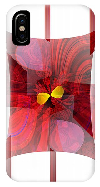 Red Transparency  IPhone Case