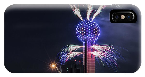 Reunion Tower Fireworks IPhone Case