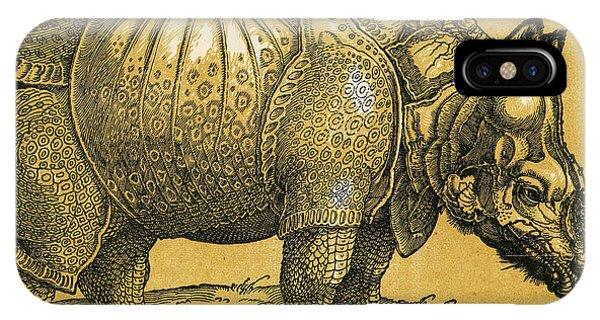 Albrecht Durer iPhone Case - Rhinoceros by Albrecht Durer
