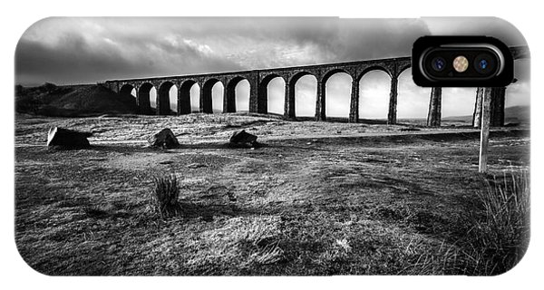 North iPhone Case - Ribblehead Viaduct by Smart Aviation