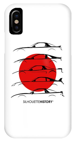 Nissan iPhone Case - Rice Bomber Silhouettehistory by Gabor Vida