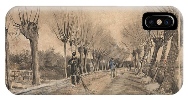 Pastel Pencil iPhone Case - Road In Etten, 1881 by Vincent Van Gogh