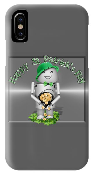 St. Patricks Day iPhone Case - Robo-x9 With A Pot Of Gold by Gravityx9 Designs