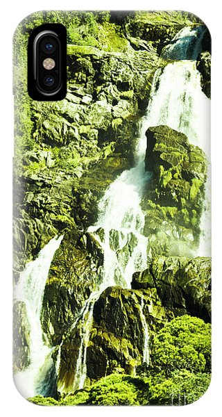 No People iPhone Case - Rocky Mountain Waterfall by Jorgo Photography - Wall Art Gallery