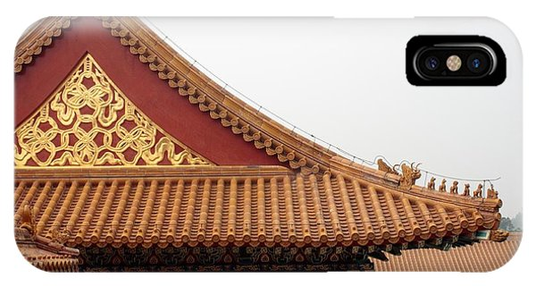Forbidden City iPhone Case - Roof Forbidden City Beijing China by Thomas Marchessault