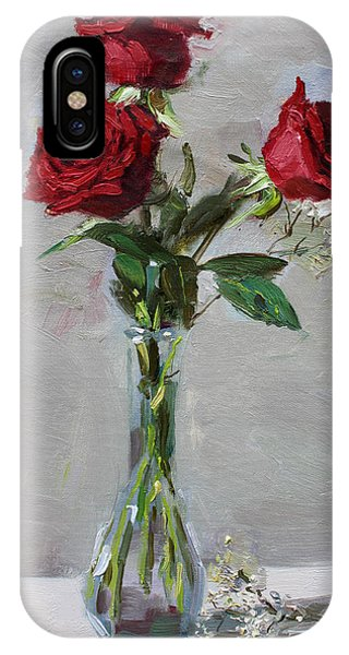 Bouquet iPhone X Case - Roses For Viola by Ylli Haruni