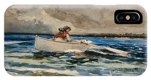 Homer iPhone Case - Rowing At Prouts Neck by Winslow Homer