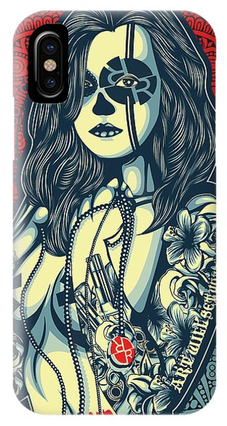 She iPhone Case - Rubino Cat Woman by Tony Rubino