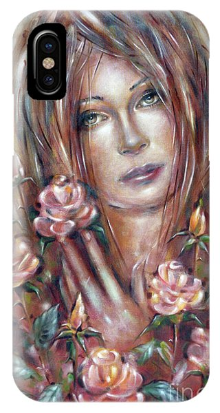 Sad Venus In A Rose Garden 060609 IPhone Case